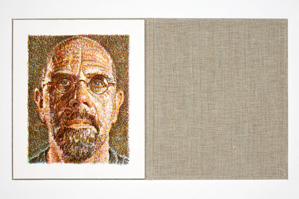 chuck close scribble book